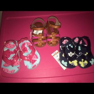 Other - All 3 Infant Sandals For 1 Price